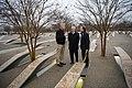 Secretary Mattis visits the Pentagon Memorial (32337562672).jpg