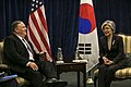 Secretary of State Michael Pompeo Meets With ROK Foreign Minister Kang Kyung-wha in Warsaw (46179228205).jpg
