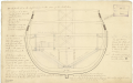 Section at Stations 3, 5 and 6 to illustrate the method of fixing trusses to the hold and orlop deck on a two decker warship (no date) RMG J0431.png