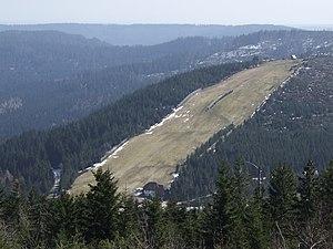 Schwarzwaldhochstraße - The ski slope Seibelseckle between Mummelsee and Ruhestein.