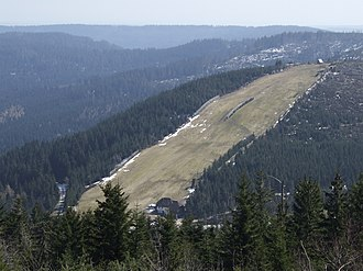 Schwarzwaldhochstraße - The ski slope Seibelseckle between Mummelsee and Ruhestein.