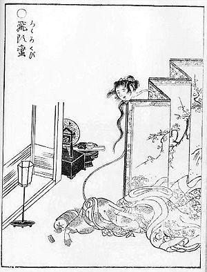 Rokurokubi - Image: Sekien Rokurokubi