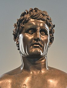 Seleukos I Nikator Bronze Roman 100BCE-100CE Museo Archeologico Nazionale Napels AN 5590 1.jpg