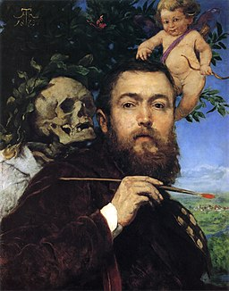 Self-portrait with Love and Death by Hans Thoma