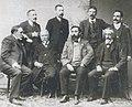 Sentados, de e. a d., Ojea, Murguía, Curros e Martínez Salazar. De pé Carré Aldao, Florencio Vaamonde Lores, Tettamancy e Eladio Rodríguez.jpg