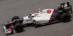 Sauber C31 - Image: Sergio Perez 2012 Malaysia FP2