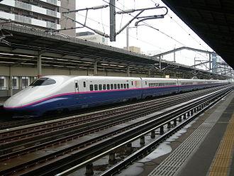 E2 Series Shinkansen - 10-car J set in revised livery in September 2008