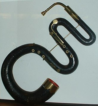 Serpent (instrument) - Serpent in the V&A Museum, London.