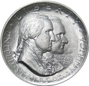 United States commemorative coin - Obverse of the half-dollar commemorative coin for the 150th anniversary of American Independence