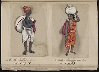 Vannar - Image: Seventy two Specimens of Castes in India (58)
