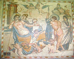 Shahba - Mosaic from Shahba depicting Aphrodite and Ares