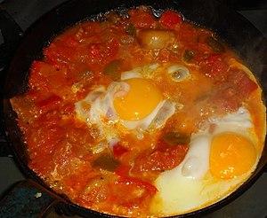 Libyan cuisine - Egg shakshouka