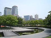 A park in the center of Shanghai