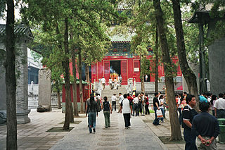 Shaolin Monastery Chan Buddhist temple in Dengfeng County, Henan Province, China
