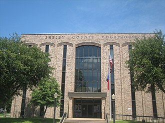 Shelby County, Texas - Image: Shelby County, TX, Courthouse IMG 0965
