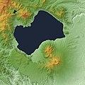 Shikotsu Caldera Relief Map, SRTM-1.jpg