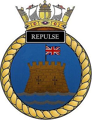 HMS Repulse (S23) - Image: Ships crest of HMS Repulse (S23)