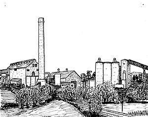 Shipton-on-Cherwell - Shipton Cement Works in 1972
