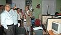 Shri Digambar Kamat, Chief Minister of Goa with Shri J. P Singh, Chief Secretary of the Govt. of Goa visited media centre for iffi 2007 at Panaji to see Media arrangements. Shri Debatosh Sengupta, Director.jpg