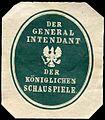 Siegelmarke Der General Intendant der Königlichen Schauspiele W0227011.jpg