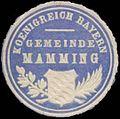 Siegelmarke Gemeinde Mamming K. Bayern W0352392.jpg