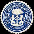 Siegelmarke Gemeinde Niederlungwitz mit Elzenberg - Amtsh. Glauchau W0313788.jpg