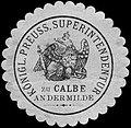 Siegelmarke Königlich Preussische Superintendentur zu Calbe an der Milde W0205615.jpg