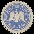 Siegelmarke K.Pr. Artillerie-Prüfungs-Commission W0348221.jpg