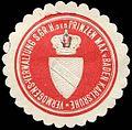 Siegelmarke Vermögens - Verwaltung Seiner Grossherzoglichen Hoheit des Prinzen Max von Baden Karlsruhe W0232823.jpg