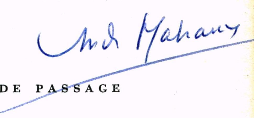 SignatureAndréMalraux