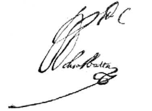 García Sarmiento de Sotomayor, 2nd Count of Salvatierra - Image: Signature G Sarmientode Sotomayor