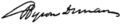 Signature of Byron Diman.png
