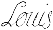 Signature of Louis of France, Duke of Burgundy in 1695.png
