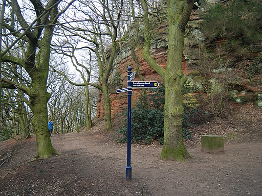 Signpost on The Sandstone Trail - geograph.org.uk - 1734996