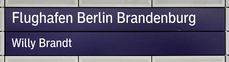 File:Signs Flughafen Willy Brandt (Schönefeld) Bahnhof2.jpg