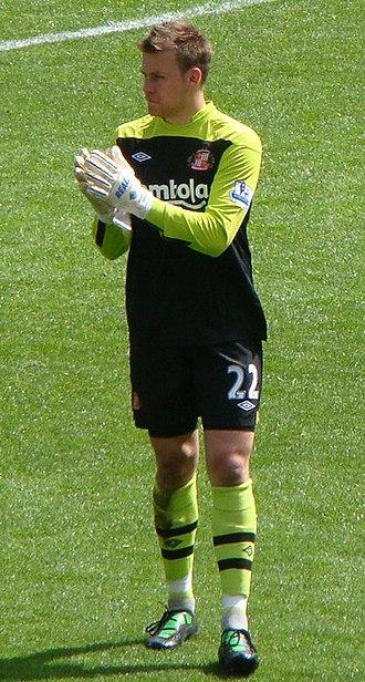 Simon Mignolet - Simon Mignolet with Sunderland in 2011
