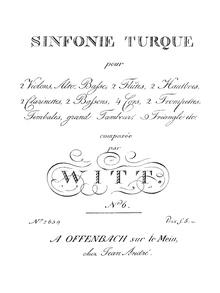 Partitur der Sinfonie Turque von Friedrich Witt, um 1809 (Quelle: Wikimedia)
