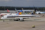 Singapore Airlines A350-941 (9V-SMD) taxiing at Manchester Airport (3).jpg