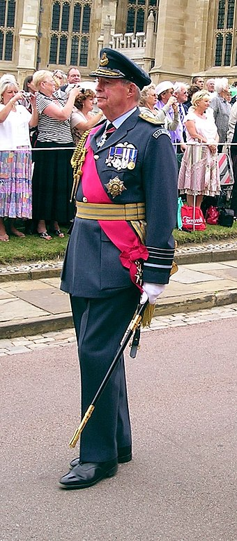 Air Chief Marshal Sir Richard Johns in his dress uniform, wearing the star, ribbon, and badge of a military Knight Grand Cross of the Order of the Bath. Sir Richard Johns.jpg