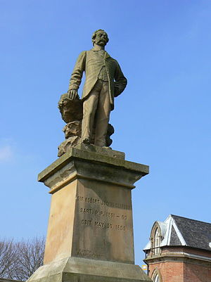 Robert Juckes Clifton - Sir Robert Juckes Clifton, 9th Baronet statue near Wilford Toll Bridge