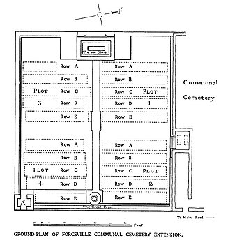 Commonwealth War Graves Commission - The site plan for the Forceville Communal Cemetery and Extension
