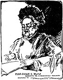 Sketch by Marguerite Martyn of Susan E Blow of kindergarten fame.jpg
