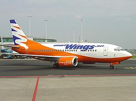 Een Boeing 737-500 van Smart Wings