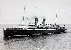 SS Snaefell (1906) - Image: Snaefell approaches Douglas