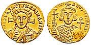 Solidus-Justinian II-Christ b-sb1413
