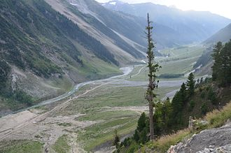 Sonamarg - The view of Sonmarg valley also known as the meadow of Gold