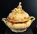Soup tureen from the Mollendorff service, c. 1751, Meissen, hard-paste porcelain, overglaze enamels, gilding - Gardiner Museum, Toronto - DSC00911.JPG