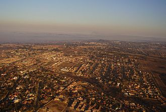 Witbank - Aerial view over the suburbs
