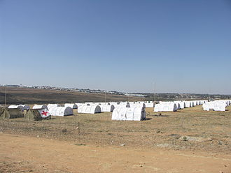 Immigration - UNHCR tents at a refugee camp following episodes of anti-immigrant violence in South Africa, 2008