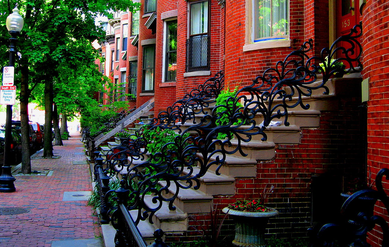 South End Boston, Victorian houses, Boston